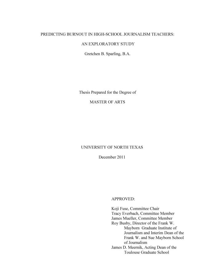 thesis titles for high school students