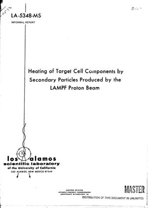 Primary view of object titled 'Heating of target cell components by secondary particles produced by the LAMPF proton beam'.