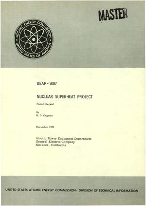 Primary view of object titled 'NUCLEAR SUPERHEAT PROJECT. Final Report.'.