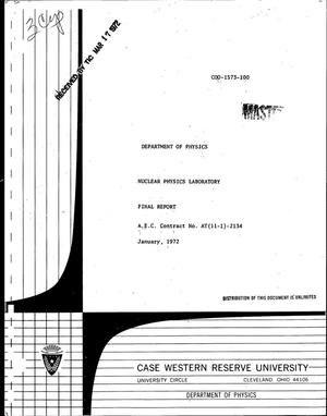 Primary view of object titled 'Nuclear Physics Laboratory Final Report for the Period November 1, 1970-- January 31, 1972.'.