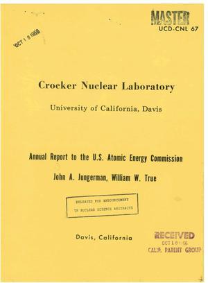 Primary view of object titled 'ANNUAL REPORT [ON NUCLEAR PHYSICS].'.