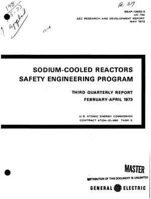Primary view of object titled 'Sodium-cooled reactors safety engineering program. Third quarterly report, February--April 1973'.