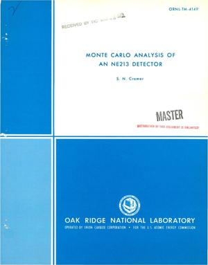 Primary view of object titled 'Monte Carlo analysis of an NE213 detector.'.