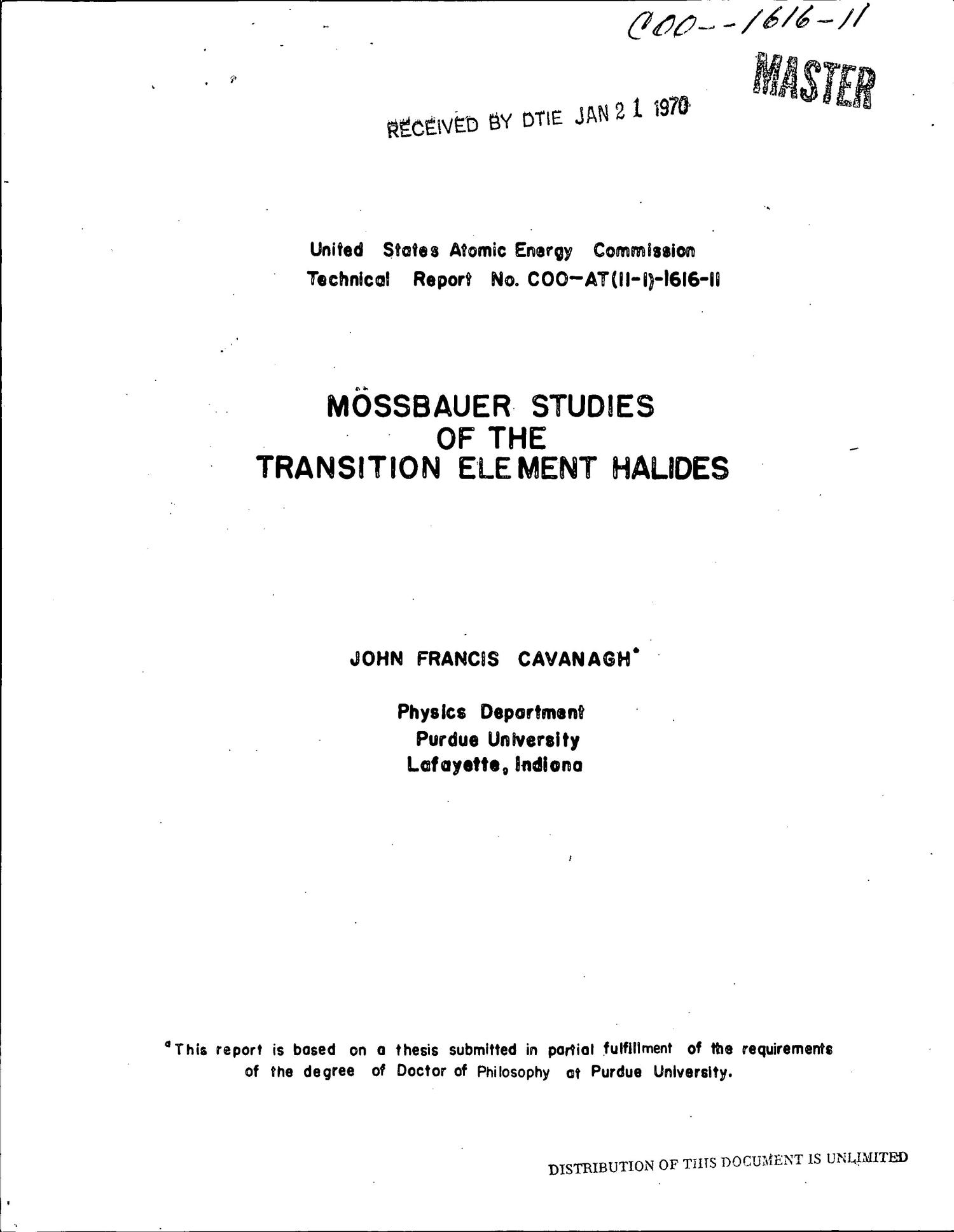 MOESSBAUER STUDIES OF THE TRANSITION ELEMENT HALIDES.                                                                                                      [Sequence #]: 1 of 112