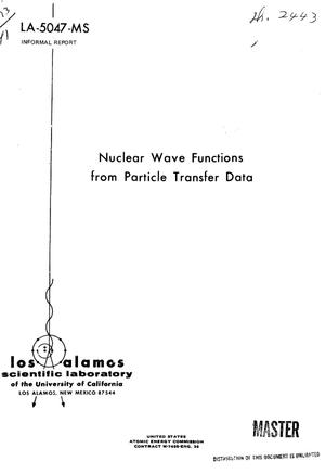Primary view of object titled 'Nuclear wave functions from particle transfer data.'.