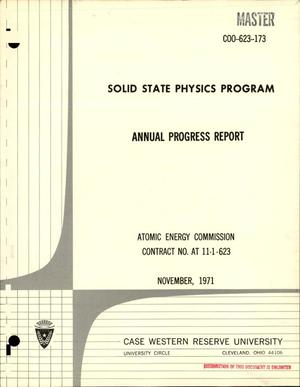 Primary view of object titled 'Solid State Physics Program Annual Progress Report.'.
