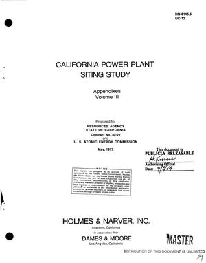 Primary view of object titled 'California power plant siting study'.