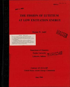 Primary view of object titled 'The Fission of Lutetium at Low Excitation Energy'.