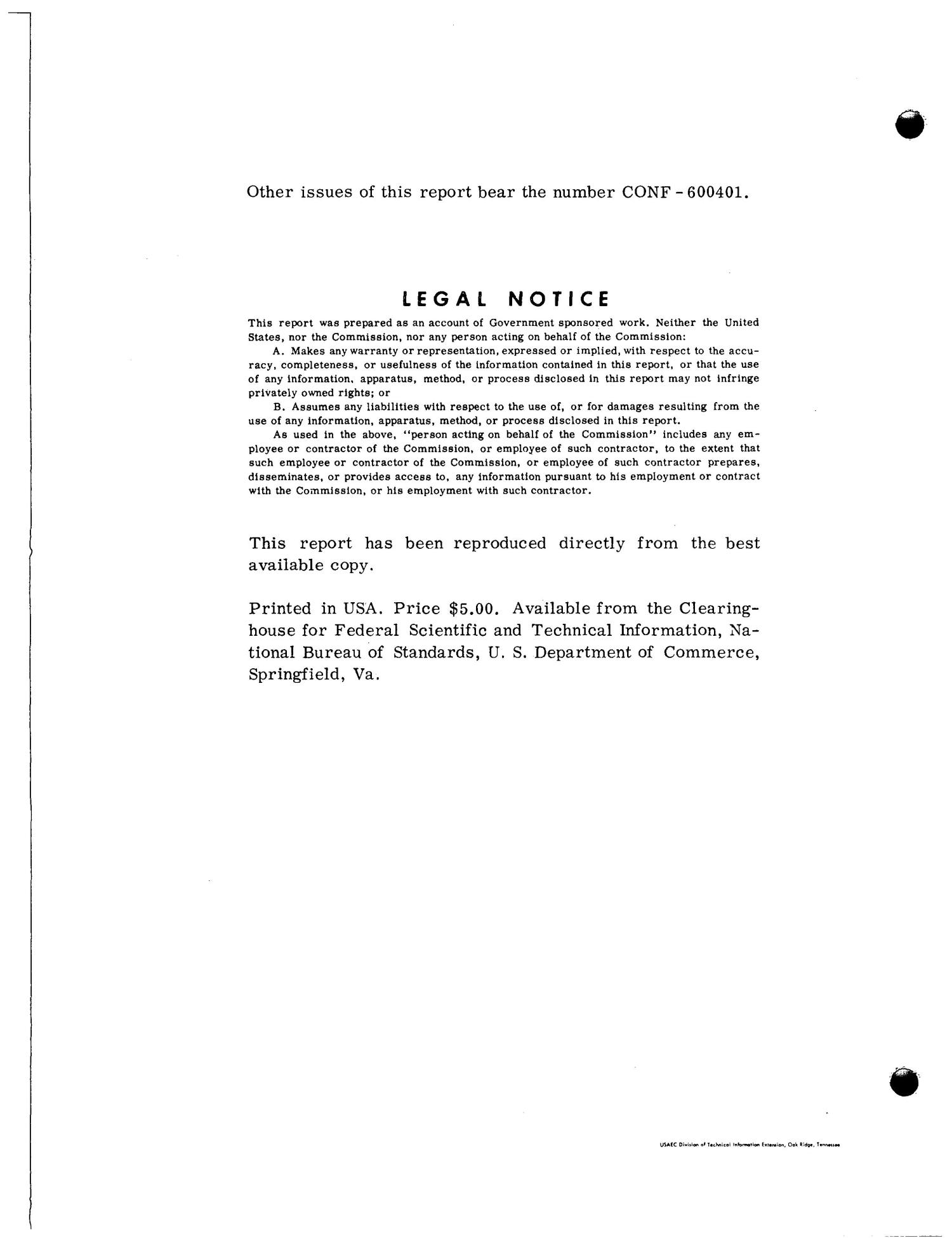 TECHNICAL PAPERS OF THE FOURTEENTH METALLOGRAPHIC GROUP MEETING, HELD APRIL 5-6, 1960 AT NUCLEAR METALS, INC., WEST CONCORD, MASSACHUSETTS                                                                                                      [Sequence #]: 4 of 179