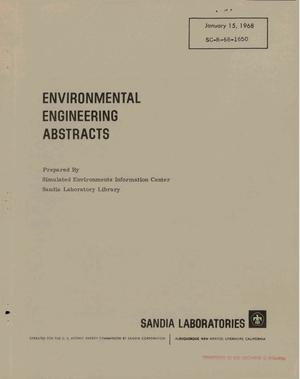Primary view of object titled 'ENVIRONMENTAL ENGINEERING ABSTRACTS.'.