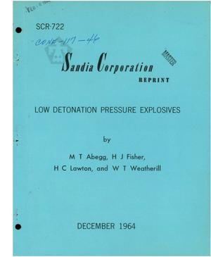 Primary view of object titled 'LOW-DETONATION-PRESSURE EXPLOSIVES'.
