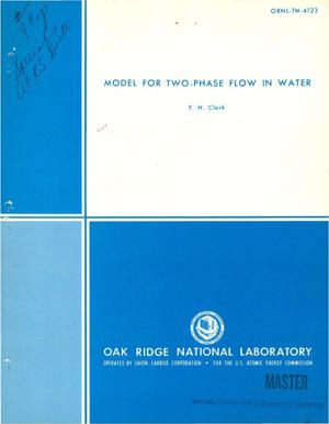 Primary view of object titled 'Model for two-phase flow in water'.