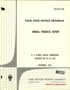 Primary view of object titled 'Solid State Physics Program. Annual Progress Report.'.