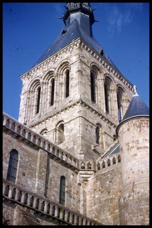 Primary view of object titled '[Le Mont-Saint-Michel tower]'.