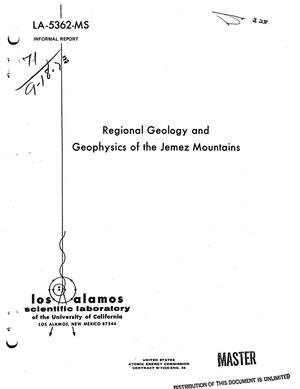 Primary view of object titled 'Regional geology and geophysics of the Jemez Mountains'.