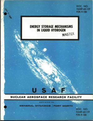 Primary view of object titled 'ENERGY STORAGE MECHANISMS IN LIQUID HYDROGEN'.