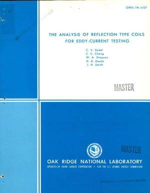 Primary view of object titled 'Analysis of reflection type coils for eddy-current testing'.