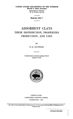 Primary view of object titled 'Adsorbent Clays: Their Distribution, Properties, Production, and Uses'.