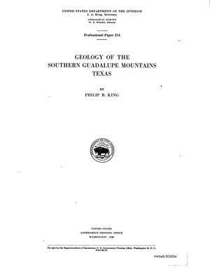 Primary view of object titled 'Geology of the southern Guadalupe Mountains, Texas'.