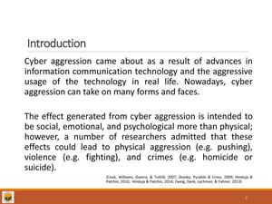 Aggression in Cyber Sphere: A Qualitative Study to Explore