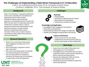 Primary view of object titled 'The Challenges Of Implementing A Data Driven Framework in K-12 Education'.