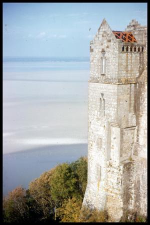 Primary view of object titled '[View from le Mont-Saint-Michel]'.