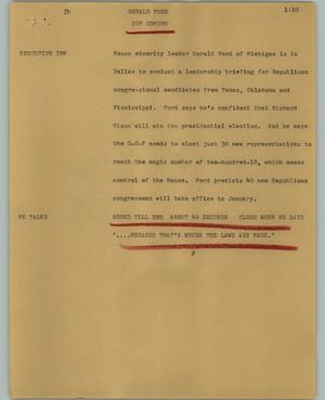 Primary view of object titled '[News Script: Gerald Ford]'.