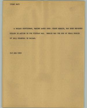 Primary view of object titled '[News Script: Viet fat]'.