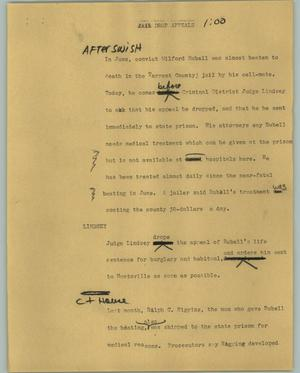 Primary view of object titled '[News Script: Drop appeals]'.