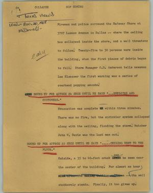 Primary view of object titled '[News Script: Collapse]'.