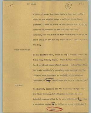 Primary view of object titled '[News Script: GOP Women]'.