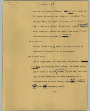 Primary view of object titled '[News Script: Monkey]'.
