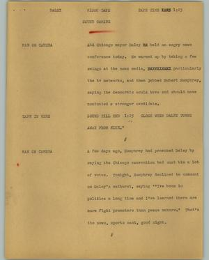 Primary view of object titled '[News Script: Daley]'.
