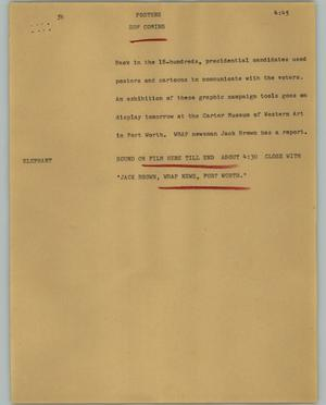 Primary view of object titled '[News Script: Posters]'.