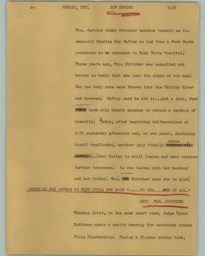 Primary view of object titled '[News Script: Hefley, etc.]'.