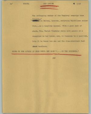 Primary view of object titled '[News Script: Muriel]'.