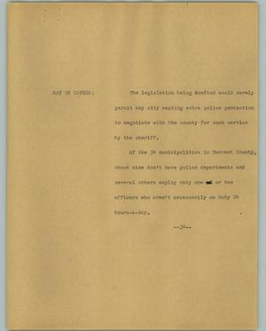 Primary view of object titled '[News Script: Police]'.