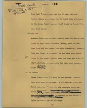 Primary view of object titled '[News Script: Murders]'.