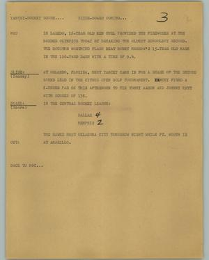 Primary view of object titled '[News Script: Yancey-Hockey Score]'.
