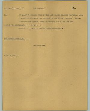 Primary view of object titled '[News Script: Accident spot]'.