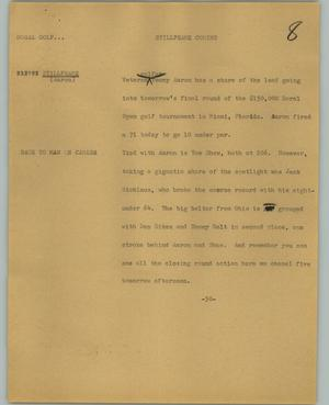 Primary view of object titled '[News Script: Stillframe coming]'.