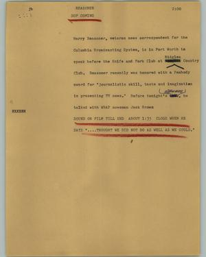 Primary view of object titled '[News Script: Reasoner]'.