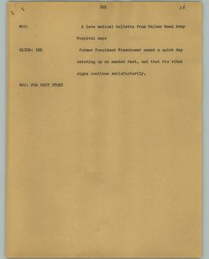 Primary view of object titled '[News Script: Ike]'.