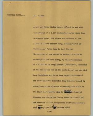 Primary view of object titled '[News Script: All silent]'.