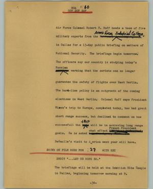 Primary view of object titled '[News Script: NSA]'.