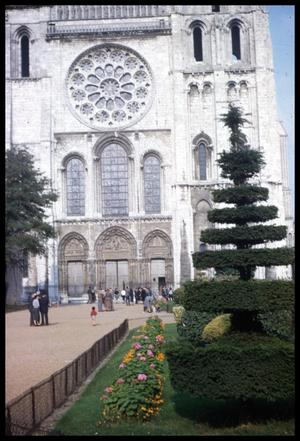 Primary view of object titled '[Chartres Cathedral landscaping]'.