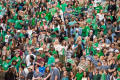 Photograph: [Mean Green Student Section at Homecoming Game]