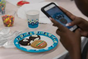 Primary view of object titled '[Student decorated cookies]'.
