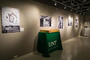 "Primary view of object titled '[UNT Union Gallery Hosting ""A Century of Excellence""]'."