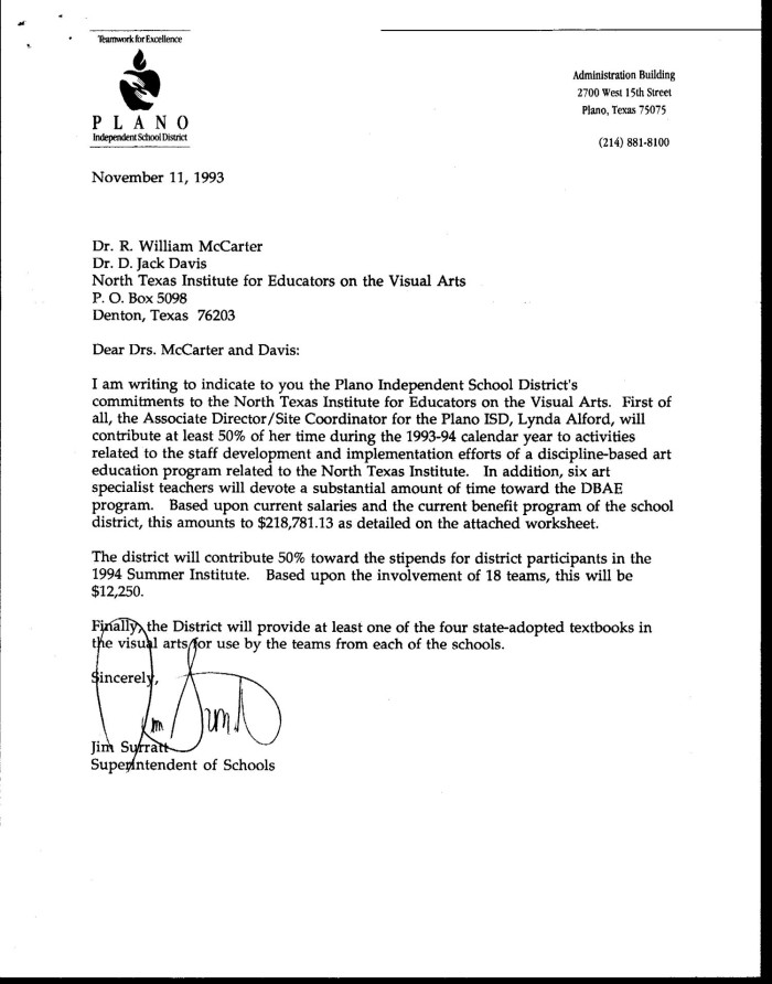 Letter from Jim Surratt to Bill McCarter and Jack Davis